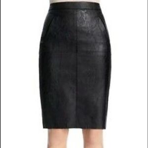 Cabi Vegan Leather Feather Skirt Style 509 NWT 2